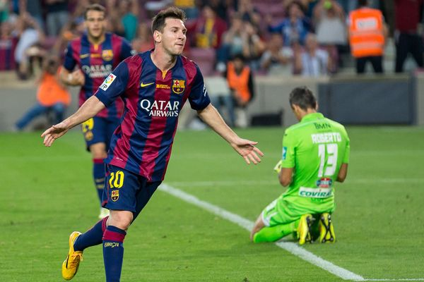 Lionel Messi in a 2014 game