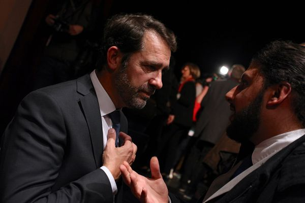 Christophe Castaner, during a meeting with Emmanuel Macron in 2016