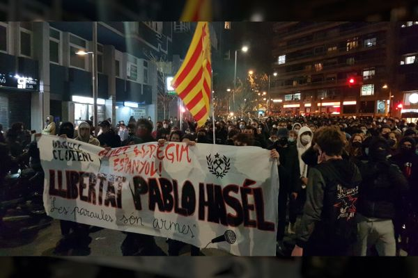Protests against the arrest of rapper Pablo Hasél