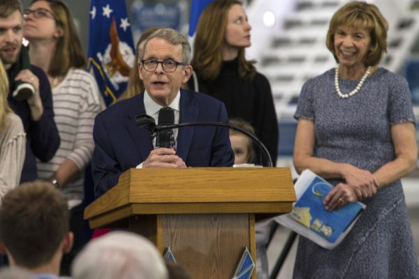 DeWine at  at the National Museum of the U.S. Air Force, 2019