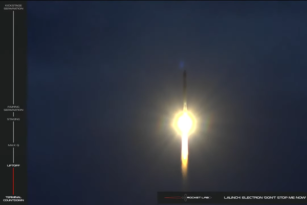 Rocket Lap - Electron Rocket Launch