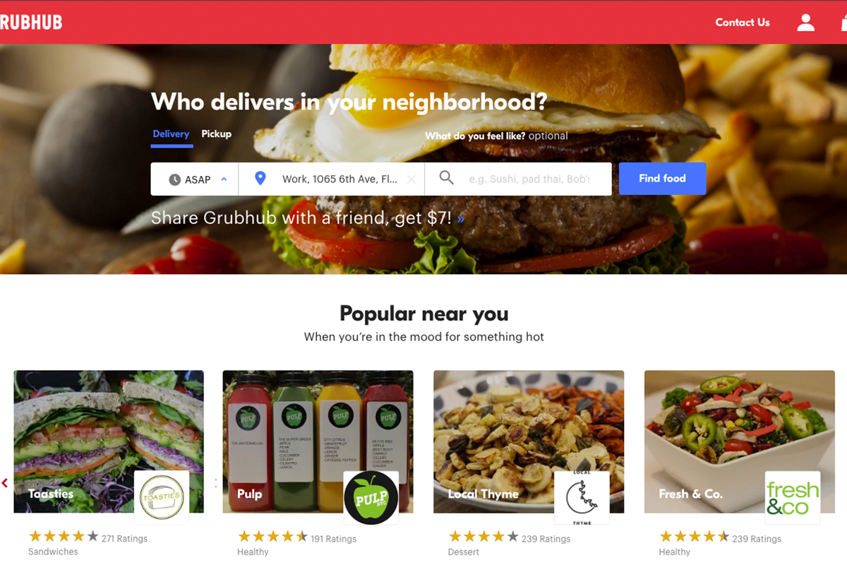 Uber said to be in talks to buy Grubhub
