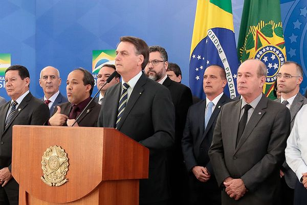 Brazilian President Jair Bolsonaro with his cabinet