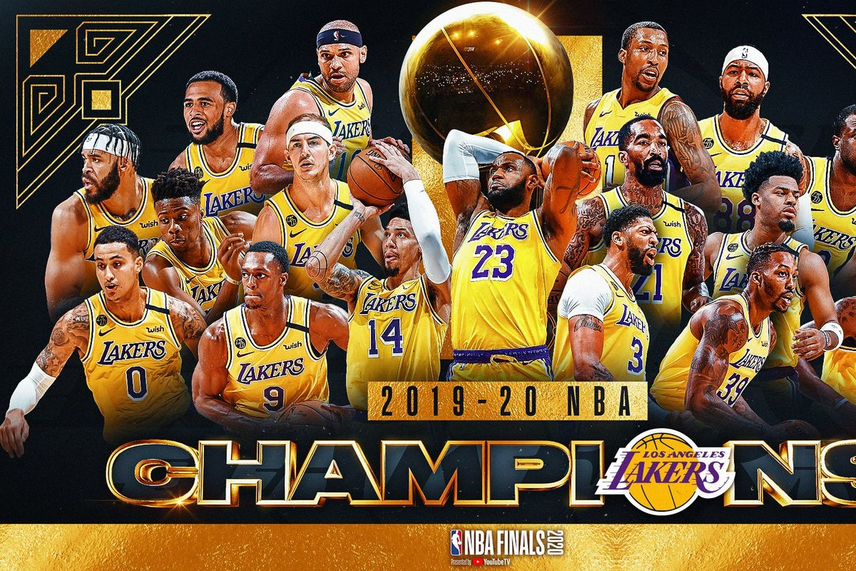 Los Angeles Lakers win the 2019/2020 NBA title