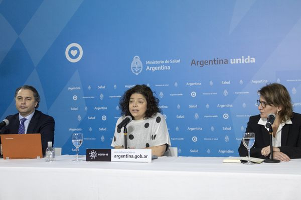 Press conference of the Argentinean Ministry of Health