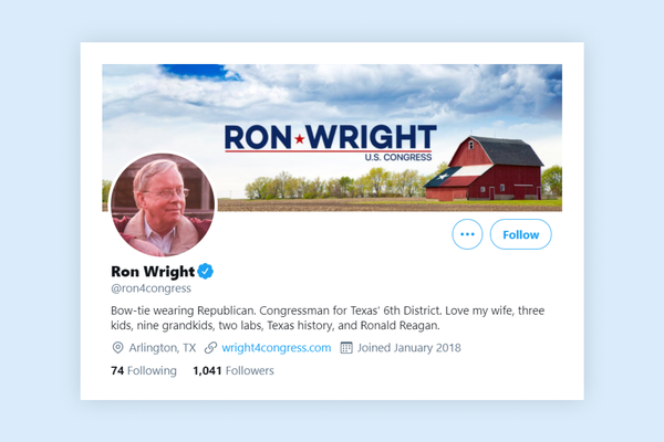 Republican US congressman Ron Wright dies after Covid-19 infection