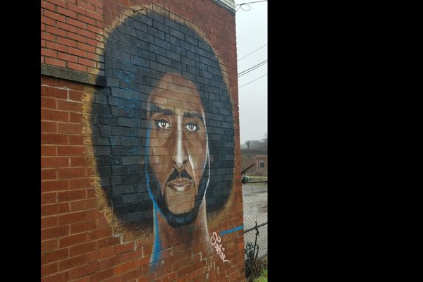 Graffiti of Colin Kaepernick in Atlanta, Georgia