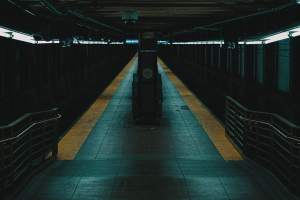 Empty Subway Station during the NYC Covid-19 Quarantine.