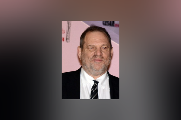 Former film producer and convicted sex offender Harvey Weinstein in Paris at the César Awards ceremony, February 2014