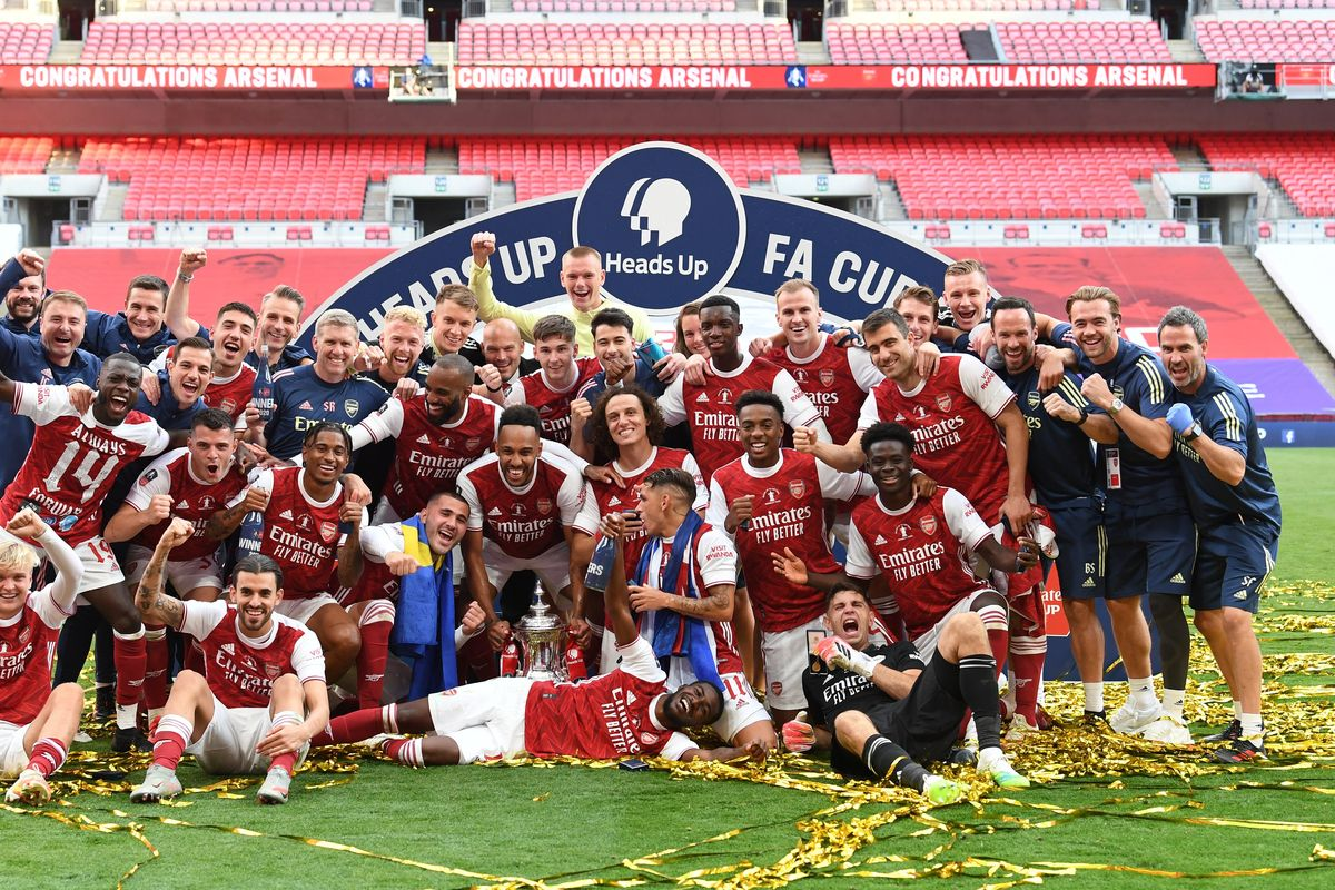 Aubameyang scores twice and Arsenal beat Chelsea to win the FA Cup