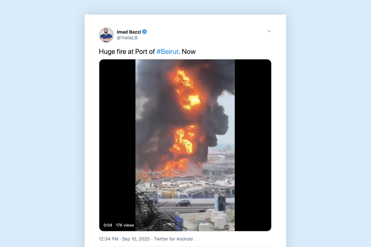 Beirut port hit by a new fire