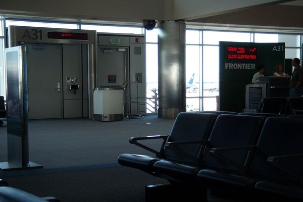 Frontier Airlines Gate at Denver Airport