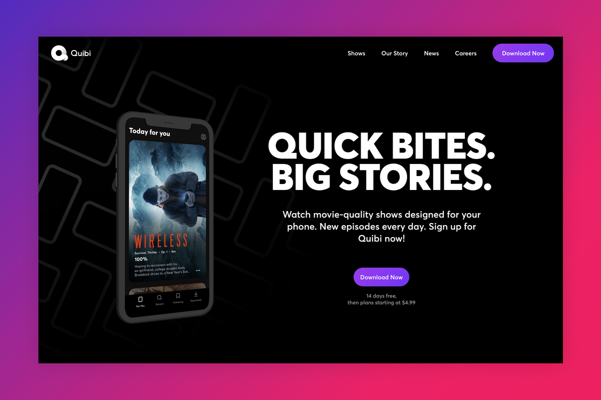 Quibi shuts down six months after going live
