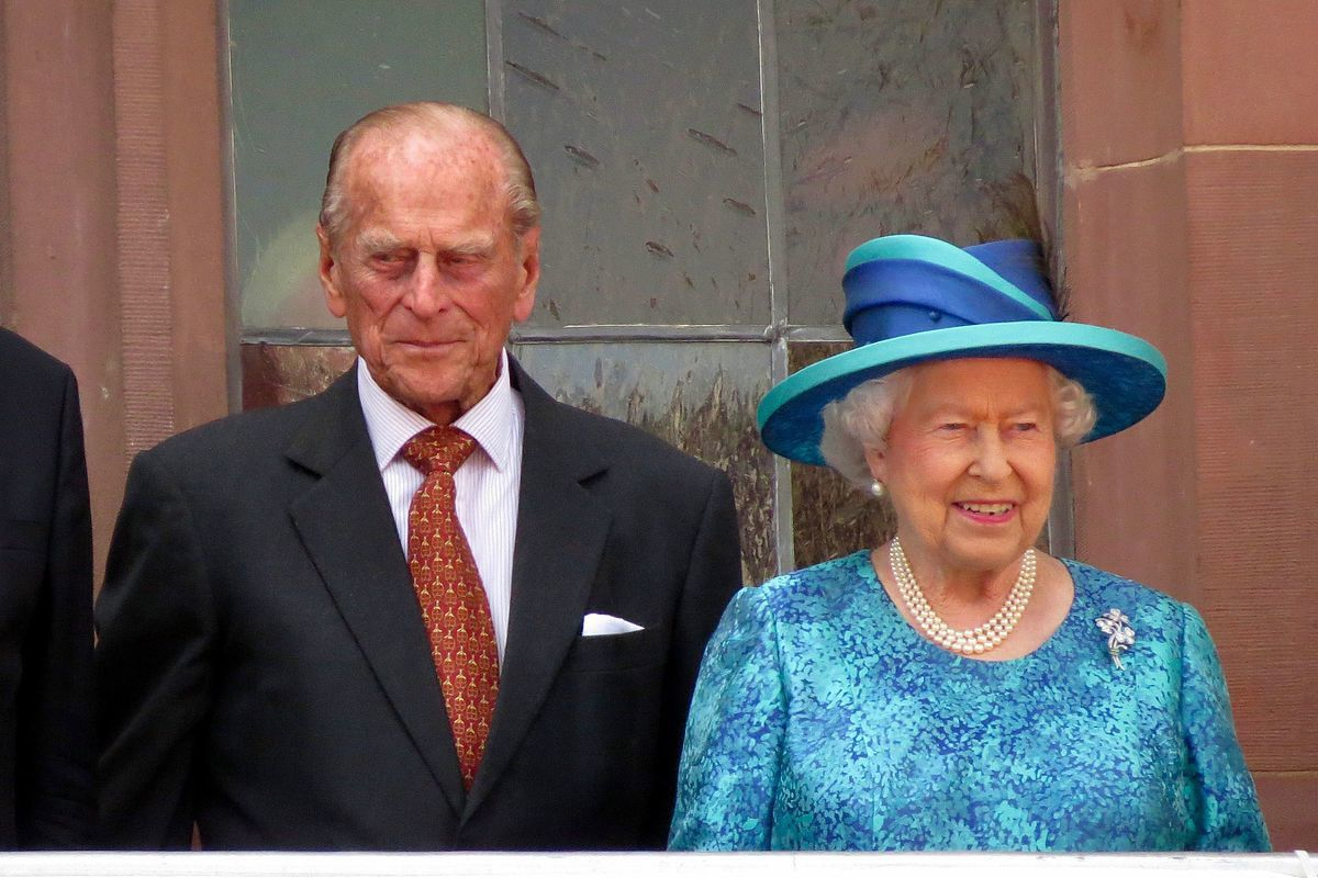 Britain's Prince Philip leaves hospital after a month