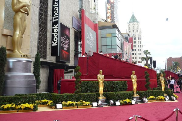 Red carpet at 81st Annual Academy Awards in Kodak Theatre, Los Angeles