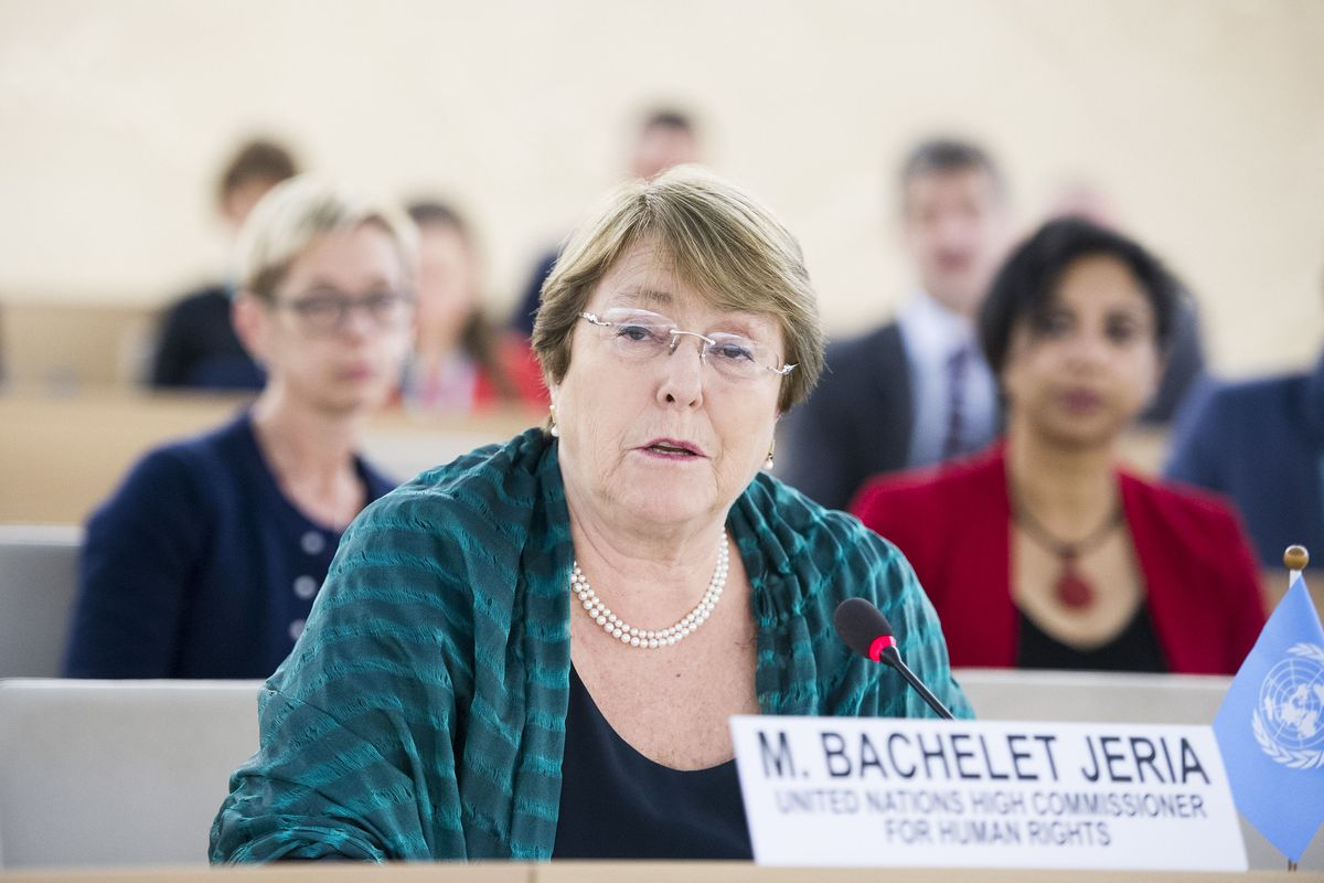 U.N. High Commissioner for Human Rights Michelle Bachelet urges Saudi Arabia to allow free speech and assembly