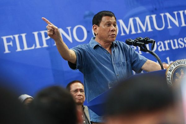 President Rodrigo Duterte addressing Filipino community in Brunei