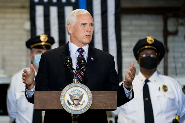 Vice President Mike Pence at the Youngstown Police Department in Youngstown, Ohio – June, 2020