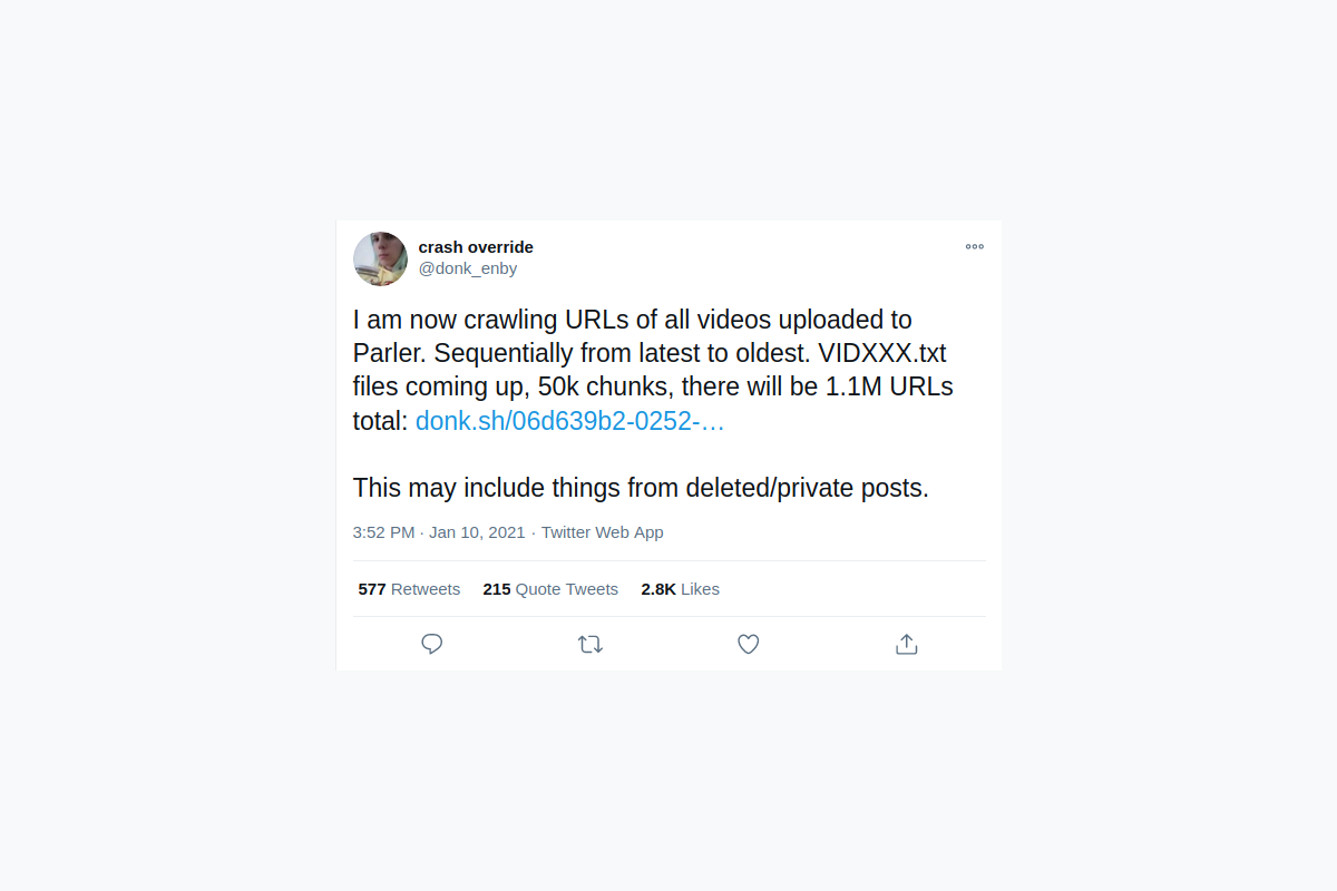 Parler data leaked and archived before the app was shutdown
