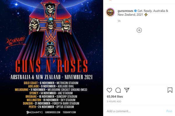 Guns N' Roses announces Austrialia & New Zealand tour for November 2021
