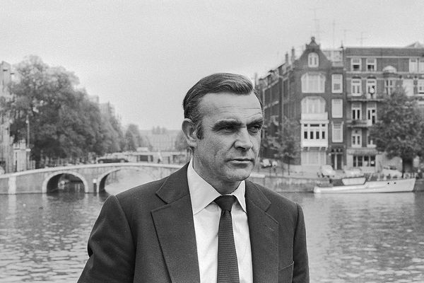 "Sean Connery shooting the James Bond movie ""Diamonds are Forever"" in Amsterdam, the Netherlands."