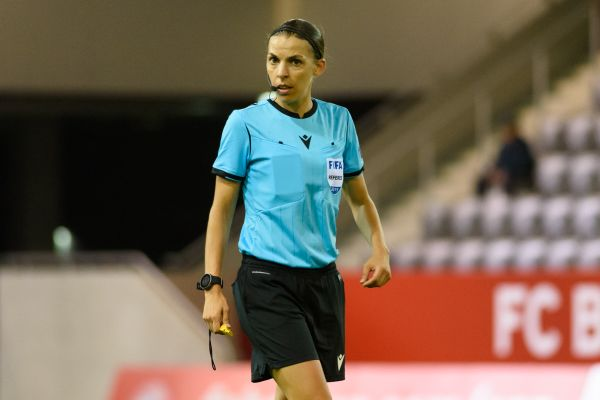 Stephanie Frappart becomes first female referee in the Champions League