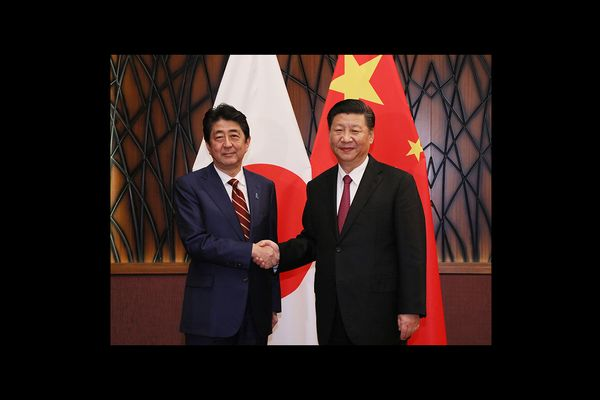 Japanese Prime Minister Shinzō Abe and Chinese President Xi Jinping