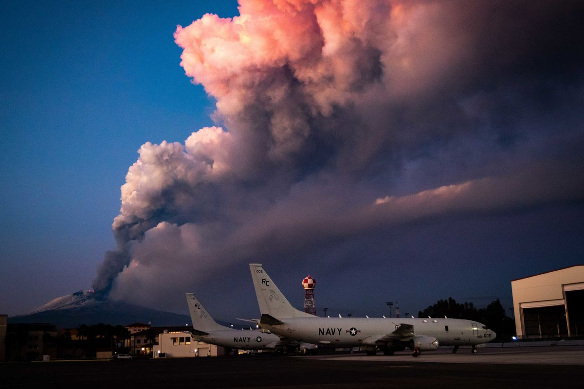 Italy's Mount Etna erupts, spews smoke & ashes and forces Catania airport to close