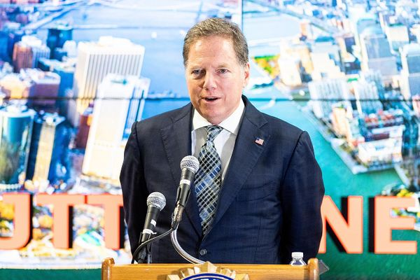 Geoffrey Berman, United States Attorney for the Southern District of New York, seen speaking at the Joint Terrorism Task Force (JTTF) in New York City.