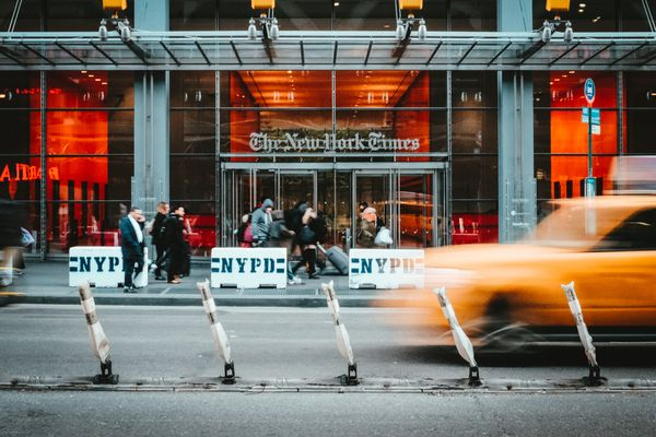 The New York Times Building at 620 Eighth Avenue, NYC