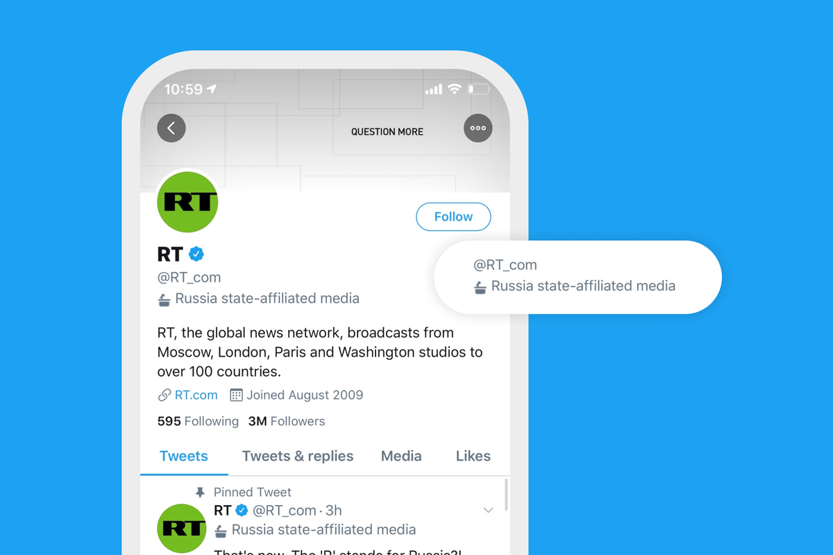 Twitter adds labels for government and state-affiliated media accounts