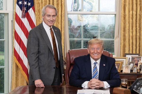 Lin Wood with former President Donald Trump, March 2020