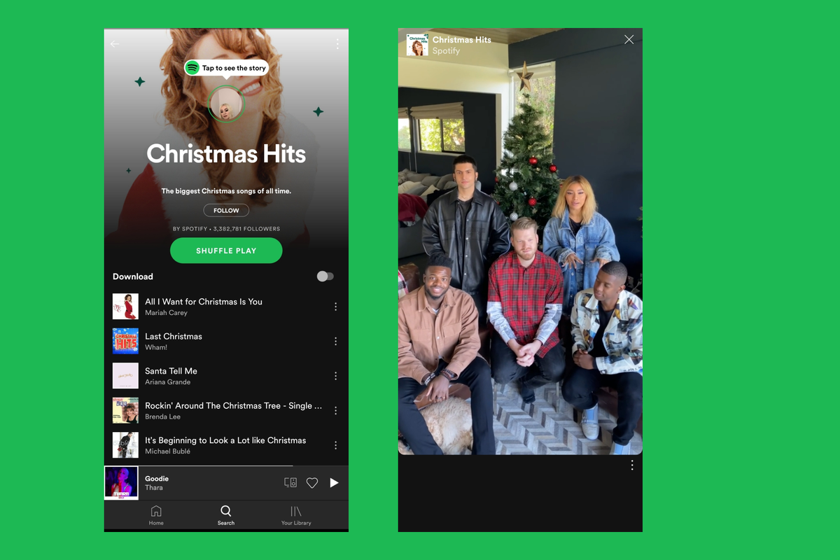 Spotify has implemented a Stories feature