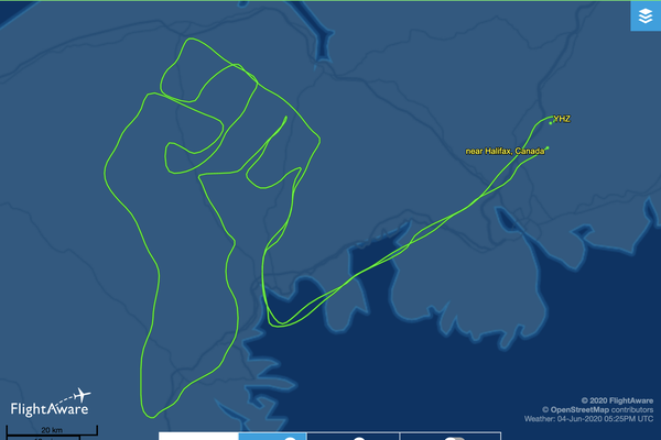 Screenshot of Neonakis' flight path