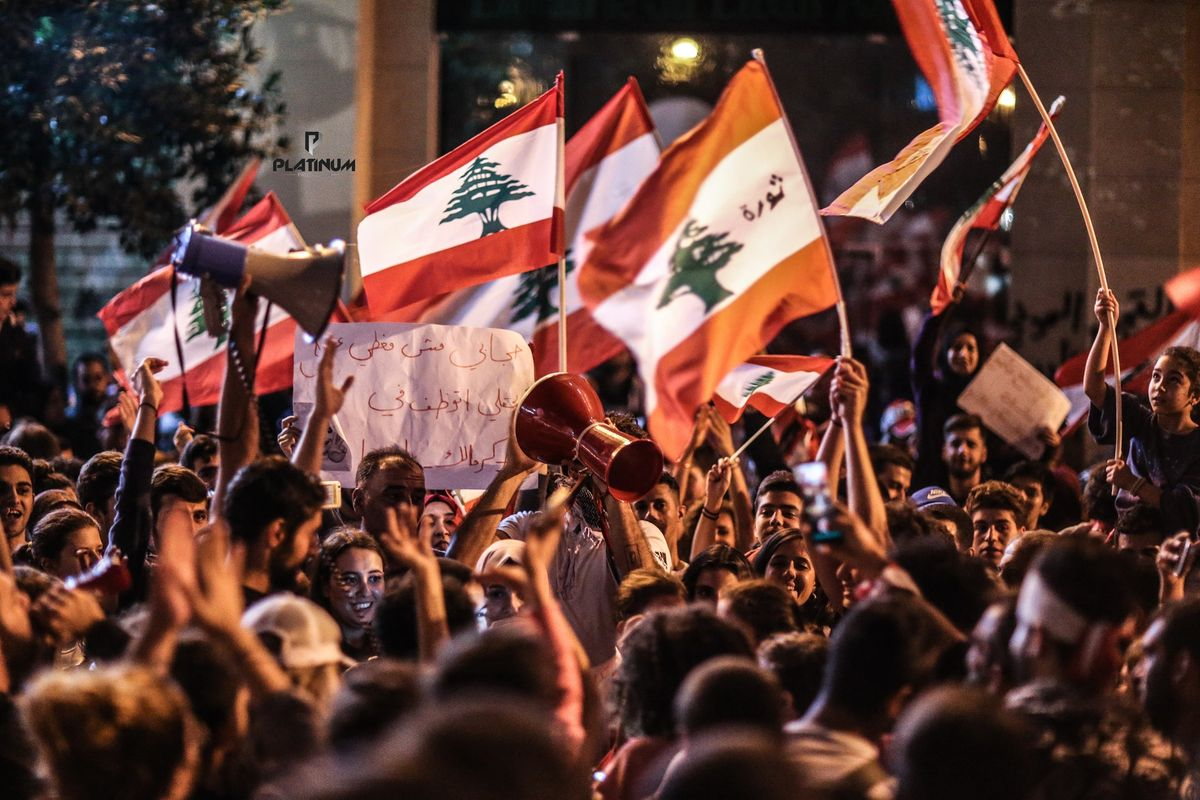 Second night of protests in Lebanon