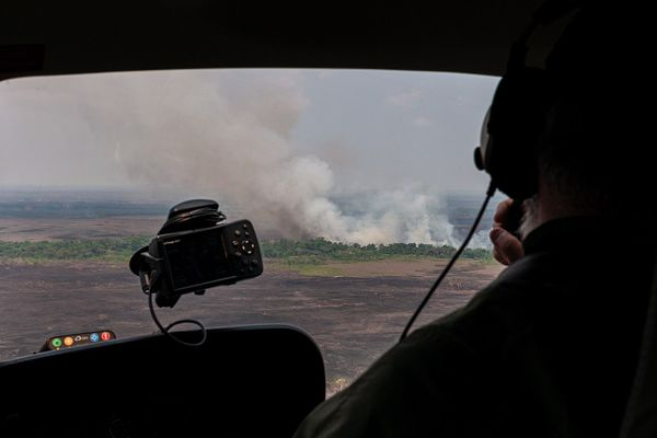 Brigadistas of Prevfogo / Ibama participate in joint operation to fight fires in the Amazon