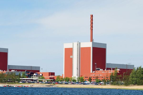 The nuclear power plants Olkiluoto 1 and Olkiluoto 2 in Olkiluoto in Finland
