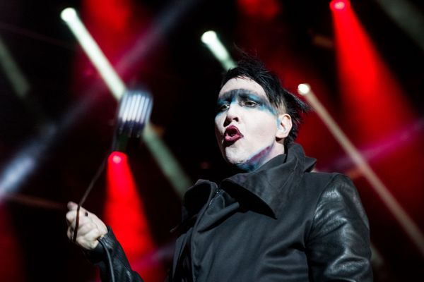Marilyn Manson in a concert