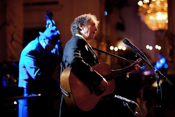 "Bob Dylan at the ""In Performance At The White House: A Celebration Of Music From The Civil Rights Movement"" concert in the White House, Feb 2010"