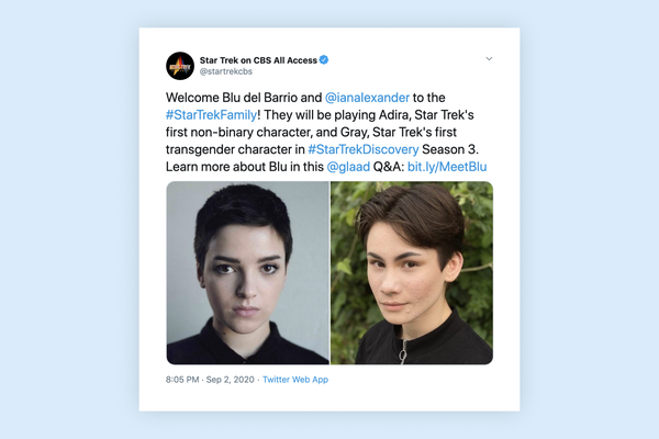 """Star Trek: Discovery"" introduces first-ever transgender and non-binary characters"