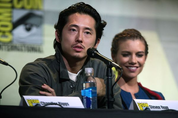 "Steven Yeun at the 2016 San Diego Comic Con International, for ""The Walking Dead"""