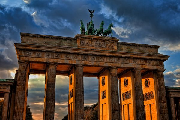 Sunset on Brandenburg Gate