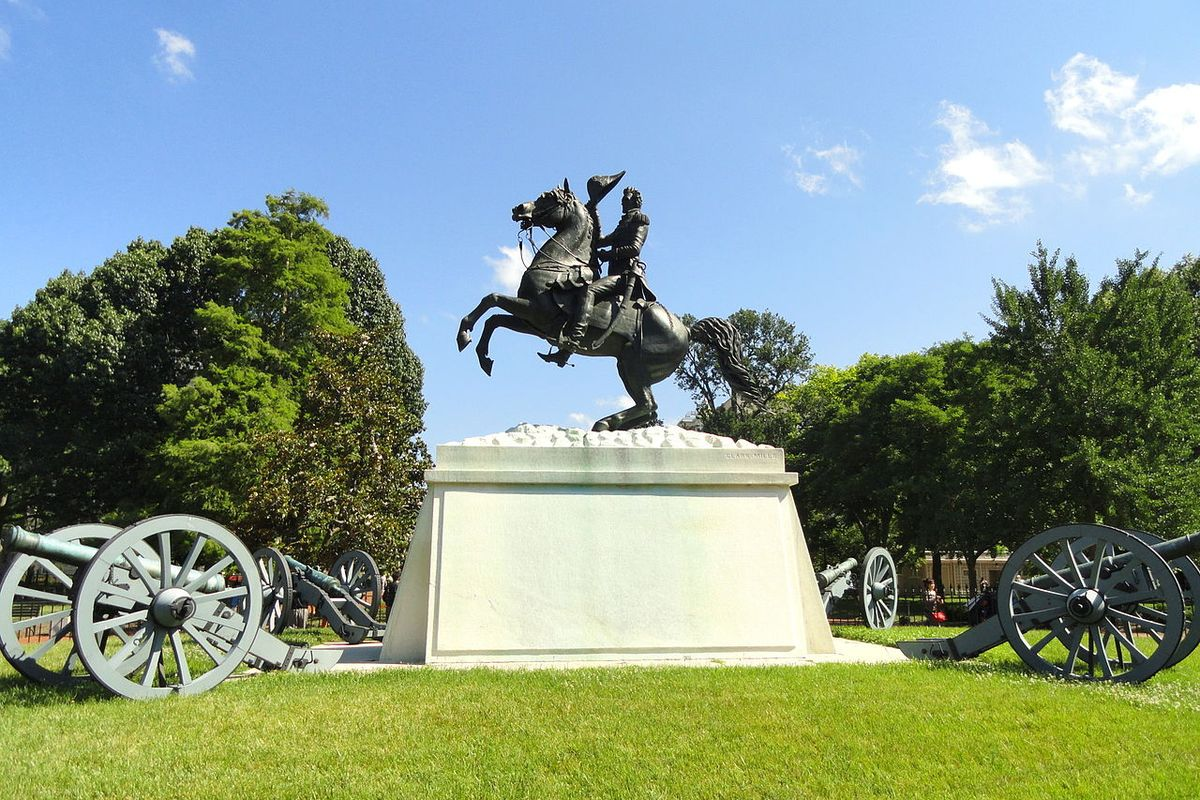 Justice Department charged 4 men for trying to take down Andrew Jackson monument