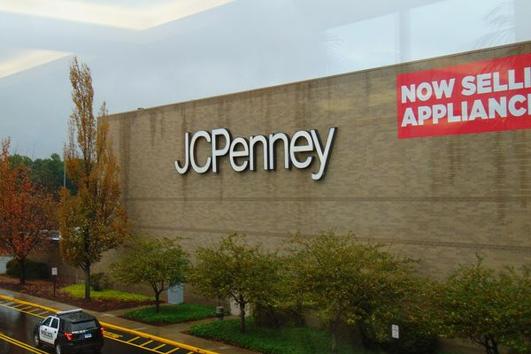 JC Penney logo on Buckland Hills Mall in Manchester, Connecticut.