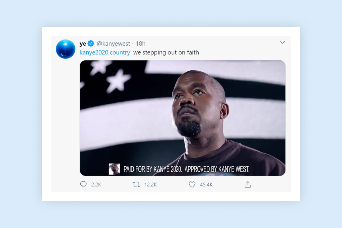 Kanye West releases first advertisement for his presidential campaign 22 days ahead of election