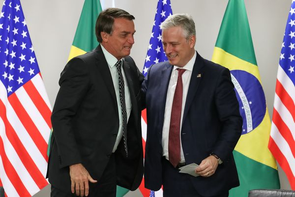 Brazilian President Jair Bolsonaro and US National Security adviser Robert O'Brien
