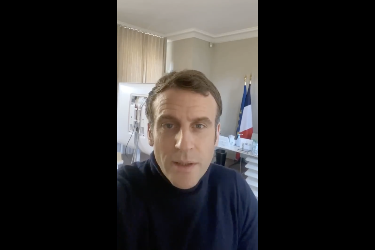 """Macron in video: """"The virus can affect everyone"""""""