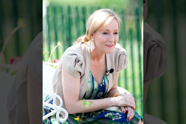 J.K. Rowling reads from Harry Potter and the Sorcerer's Stone at the Easter Egg Roll at the White House in 2010.
