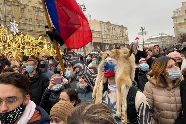 Russian protesters
