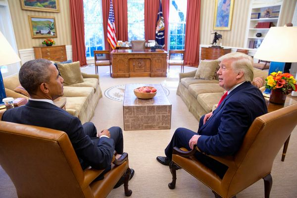 Two days after the election on November 10th 2016, the President meets with President-elect Donald Trump